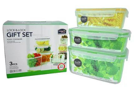 Bộ 3 Hộp đựng thức ăn Lock&Lock Neolock Color Box NLP131S001