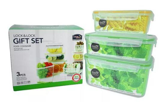Bộ 3 Hộp bảo quản thức ăn Lock&Lock Neolock Color Box NLP131S001