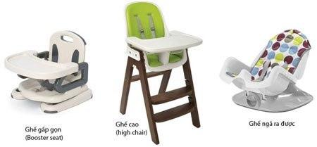 các loại ghế ăn dặm cho bé