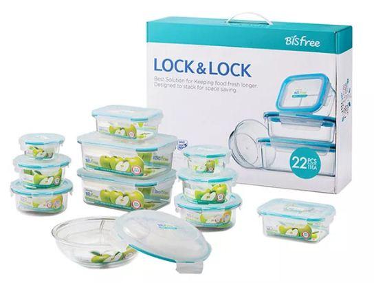 Combo 10 Hộp Nhựa đựng thức ăn Bisfree Table Top Lock&Lock LBF631S10