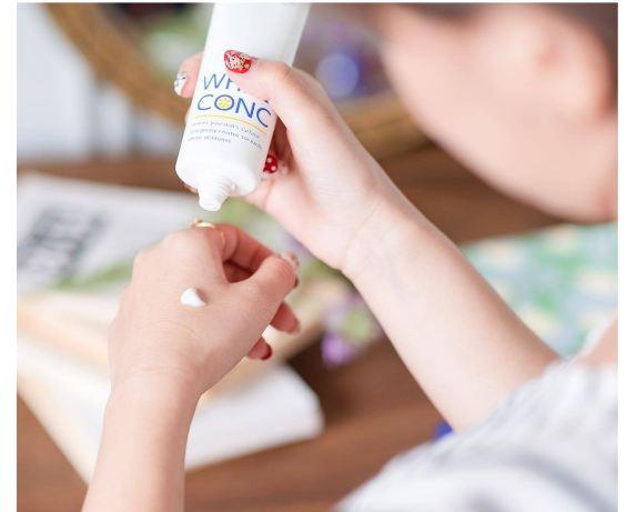 kem dưỡng trắng da white conc