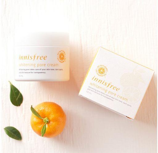 review kem dưỡng trắng da innisfree whitening pore cream